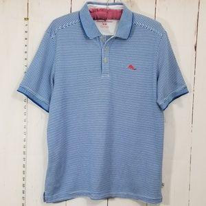 Tommy Bahama blue polo shirt size M